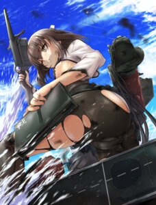 Rating: Questionable Score: 16 Tags: ass cameltoe erect_nipples kantai_collection no_bra pantsu pantyhose pestxsan taihou_(kancolle) underboob weapon User: fairyren