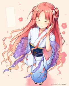 Rating: Safe Score: 45 Tags: flower_knight_girl tsuchikure_(3105mitoko) yukata User: fairyren