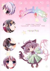 Rating: Safe Score: 11 Tags: animal_ears chibi hisuitei izumi_tsubasu nekomimi User: midzki