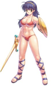 Rating: Questionable Score: 30 Tags: bikini_armor cleavage king_of_fighters princess_athena snk sword underboob User: Yokaiou