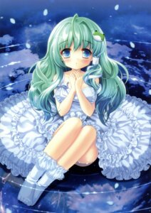 Rating: Safe Score: 59 Tags: dress kino kinokonomi kochiya_sanae macchatei_koeda touhou wet_clothes User: fireattack
