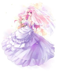 Rating: Safe Score: 50 Tags: cleavage dress louise usatsuka_eiji wedding_dress zero_no_tsukaima User: h71337