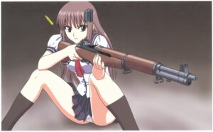 Rating: Questionable Score: 31 Tags: gun pantsu seifuku yamauchi_noriyasu User: Radioactive