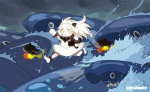 Rating: Safe Score: 14 Tags: chibi dress feet horns kantai_collection naitou_ryu northern_ocean_hime tagme User: Anemone