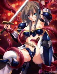 Rating: Explicit Score: 64 Tags: armor cum miyama-zero nipples sword tentacles thighhighs User: demonbane1349