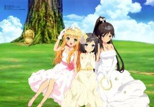 Rating: Safe Score: 72 Tags: azuki_azusa dress hentai_ouji_to_warawanai_neko imoto_yuki tsutsukakushi_tsukiko tsutsukakushi_tsukushi wedding_dress User: drop