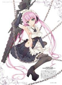 Rating: Safe Score: 37 Tags: heels isekai_maou_to_shoukan_shoujo_no_dorei_majutsu maid no_bra pantyhose sword tsurusaki_takahiro weapon User: kiyoe