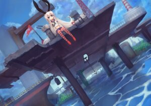 Rating: Safe Score: 50 Tags: bandages gods kantai_collection landscape rensouhou-chan seifuku shimakaze_(kancolle) thighhighs thong User: Mr_GT