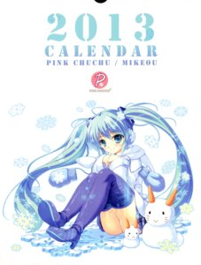 Rating: Safe Score: 27 Tags: calendar hatsune_miku mikeou pink_chuchu thighhighs vocaloid User: Twinsenzw