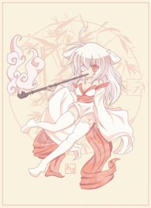 Rating: Safe Score: 9 Tags: amaterasu animal_ears baka-art cleavage eyepatch kimono ookami thighhighs User: yumichi-sama