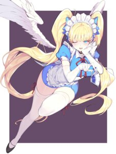 Rating: Safe Score: 53 Tags: maid mendou_kusai skirt_lift tagme thighhighs wings User: Mr_GT