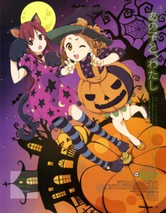 Rating: Questionable Score: 19 Tags: 22/7 animal_ears dress halloween horiguchi_yukiko kouno_miyako nekomimi satou_reika tail thighhighs witch User: drop
