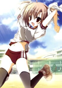 Rating: Safe Score: 30 Tags: aquarian_age buruma gym_uniform inugami_kira thighhighs User: crim