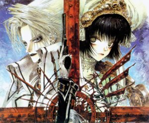 Rating: Safe Score: 4 Tags: abel_nightroad cain_nightroad gun seth_nightroad thores_shibamoto trinity_blood User: Radioactive
