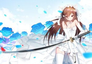Rating: Safe Score: 59 Tags: animal_ears cleavage dress gun niliu_chahui sen_ya stockings sword tagme thighhighs wedding_dress User: Mr_GT