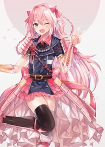 Rating: Questionable Score: 18 Tags: abandon_ranka armor astolfo_(fate) cosplay fate/grand_order midare_toushirou thighhighs touken_ranbu trap User: Dreista