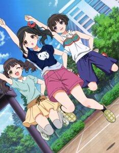 Rating: Safe Score: 22 Tags: atsugi_itsuka hayashi_ayumi morishima_otome thighhighs wake_up_girls! User: drop