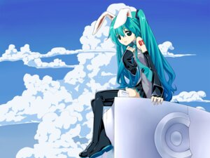 Rating: Safe Score: 16 Tags: hatsune_miku thighhighs tinmo vocaloid User: hobbito