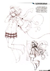 Rating: Safe Score: 7 Tags: fujishima monochrome raving_phantom seifuku sketch User: Hatsukoi