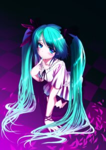 Rating: Safe Score: 66 Tags: dress hatsune_miku hinasaki thighhighs vocaloid world_is_mine_(vocaloid) User: fireattack