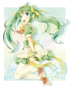 Rating: Safe Score: 12 Tags: dress melonbooks melon-chan michii_yuuki thighhighs User: fireattack