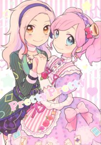 Rating: Safe Score: 14 Tags: aikatsu! amahane_madoka asami_(iroiro) dress kurosawa_rin lolita_fashion User: NotRadioactiveHonest