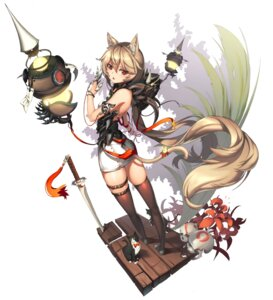 Rating: Safe Score: 84 Tags: [saw] animal_ears garter neko nekomimi sword tail thighhighs weapon User: Radioactive