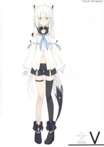 Rating: Safe Score: 15 Tags: animal_ears garter hololive nagishiro_mito shirakami_fubuki tail User: kiyoe