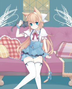 Rating: Safe Score: 37 Tags: animal_ears garter mizuki nekomimi tail thighhighs User: inumimi.7
