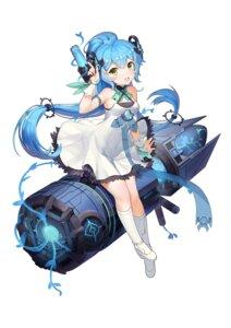 Rating: Safe Score: 47 Tags: boku_koyuki_mx dress heels horns mecha_musume see_through weapon User: sym455