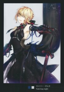 Rating: Safe Score: 32 Tags: dress fate/stay_night no_bra saber saber_alter scanning_artifacts sword tagme tattoo type-moon User: Radioactive