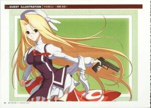 Rating: Safe Score: 7 Tags: chuuou_higashiguchi gun haruka_ni_aogi_uruwashi_no hashiba_yuuna megane seifuku thighhighs User: admin2