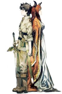 Rating: Safe Score: 31 Tags: horns maou_(maoyuu_maou_yuusha) maoyuu_maou_yuusha sword toi8 yuusha User: matson