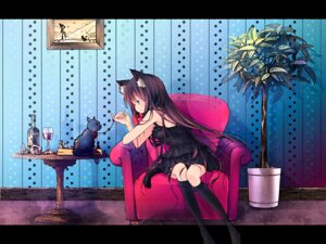 Rating: Safe Score: 34 Tags: animal_ears dress neko nekomimi sakurano_miya tail wallpaper User: MK-Scorpion