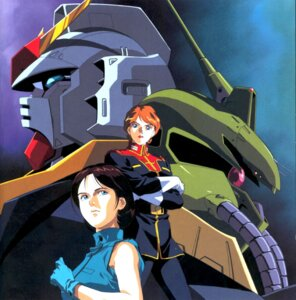 Rating: Safe Score: 4 Tags: emma_sheen gundam gundam_mark_ii kitazume_hiroyuki mecha reccoa_londe zeta_gundam User: Radioactive