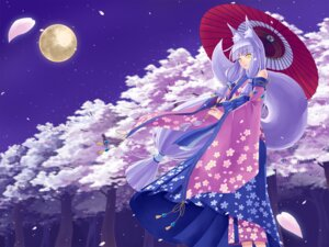 Rating: Safe Score: 23 Tags: animal_ears kimono kitsune seihou tail umbrella User: Mr_GT