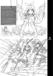Rating: Safe Score: 8 Tags: 5_nenme_no_houkago dress kantoku monochrome sketch wings User: Hatsukoi