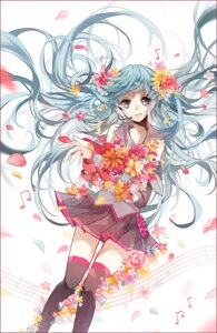 Rating: Safe Score: 27 Tags: cui_(jidanhaidaitang) hatsune_miku headphones thighhighs vocaloid User: charunetra