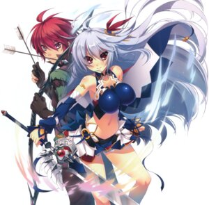Rating: Questionable Score: 48 Tags: ellenora_viltaria katagiri_hinata madan_no_ou_to_vanadis no_bra sword tigrevurmud_vorn weapon User: Radioactive