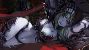 Rating: Questionable Score: 100 Tags: armor bebe1999 bikini_armor cleavage elf pointy_ears sylvanas_windrunner thighhighs world_of_warcraft User: mash