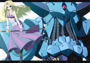 Rating: Questionable Score: 7 Tags: crease five_star_stories fixme mecha suzuri sword tennenseki User: admin2
