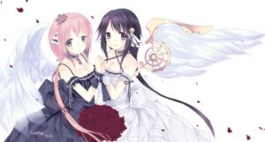 Rating: Safe Score: 40 Tags: cleavage dress ikaros kazane_hiyori loading.. sora_no_otoshimono wings User: Radioactive