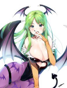 Rating: Questionable Score: 83 Tags: autographed cleavage dark_stalkers dr_poapo leotard morrigan_aensland no_bra pantyhose wings User: charunetra