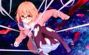 Rating: Safe Score: 61 Tags: bondage fujita_haruka kuriyama_mirai kyoukai_no_kanata megane overfiltered pantyhose seifuku sweater sword torn_clothes User: shizuku96