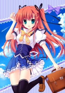 Rating: Safe Score: 41 Tags: digital_version mitha nanawind seifuku takasaki_honoka thighhighs yuyukana User: blooregardo