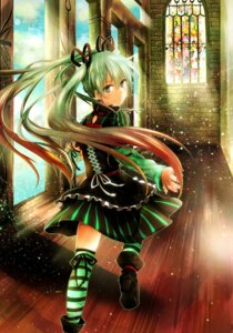 Rating: Safe Score: 41 Tags: dress hatsune_miku mikaharu thighhighs vocaloid User: 椎名深夏