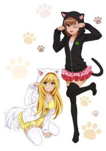 Rating: Safe Score: 23 Tags: animal_ears cleavage misaka_mikoto nekomimi shokuhou_misaki tail thighhighs to_aru_kagaku_no_railgun to_aru_majutsu_no_index User: drop