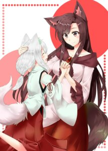 Rating: Safe Score: 23 Tags: aino-san_(miximixi39) animal_ears imaizumi_kagerou inubashiri_momiji tail touhou User: Mr_GT