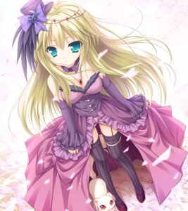 Rating: Safe Score: 84 Tags: cleavage dress game_cg garter heels kodomo_no_asobi lump_of_sugar moekibara_fumitake sera_(kodomo_no_asobi) stockings thighhighs User: donicila
