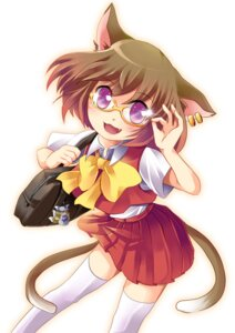 Rating: Safe Score: 6 Tags: animal_ears chen megane seifuku tail thighhighs toda_ayu touhou User: Radioactive